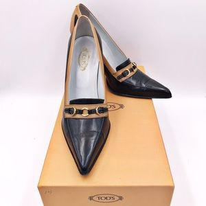 Tod's Two Tone Leather Pumps